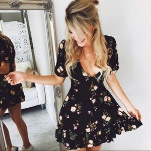 Figleaffashion Dresses - Chiffon Bohemian Floral Summer Dress